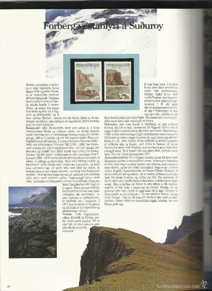 Sellos: ISLAS FEROE LIBRO ANUARIO 1989 INCLUYE SELLOS - CEPT EUROPA- TRAJES TIPICOS- FUTBOL- ARTESANIA - Foto 9 - 55135201