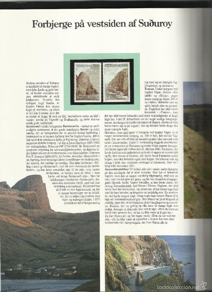 Sellos: ISLAS FEROE LIBRO ANUARIO 1989 INCLUYE SELLOS - CEPT EUROPA- TRAJES TIPICOS- FUTBOL- ARTESANIA - Foto 10 - 55135201