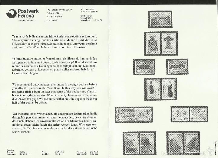 Sellos: ISLAS FEROE LIBRO ANUARIO 1989 INCLUYE SELLOS - CEPT EUROPA- TRAJES TIPICOS- FUTBOL- ARTESANIA - Foto 11 - 55135201