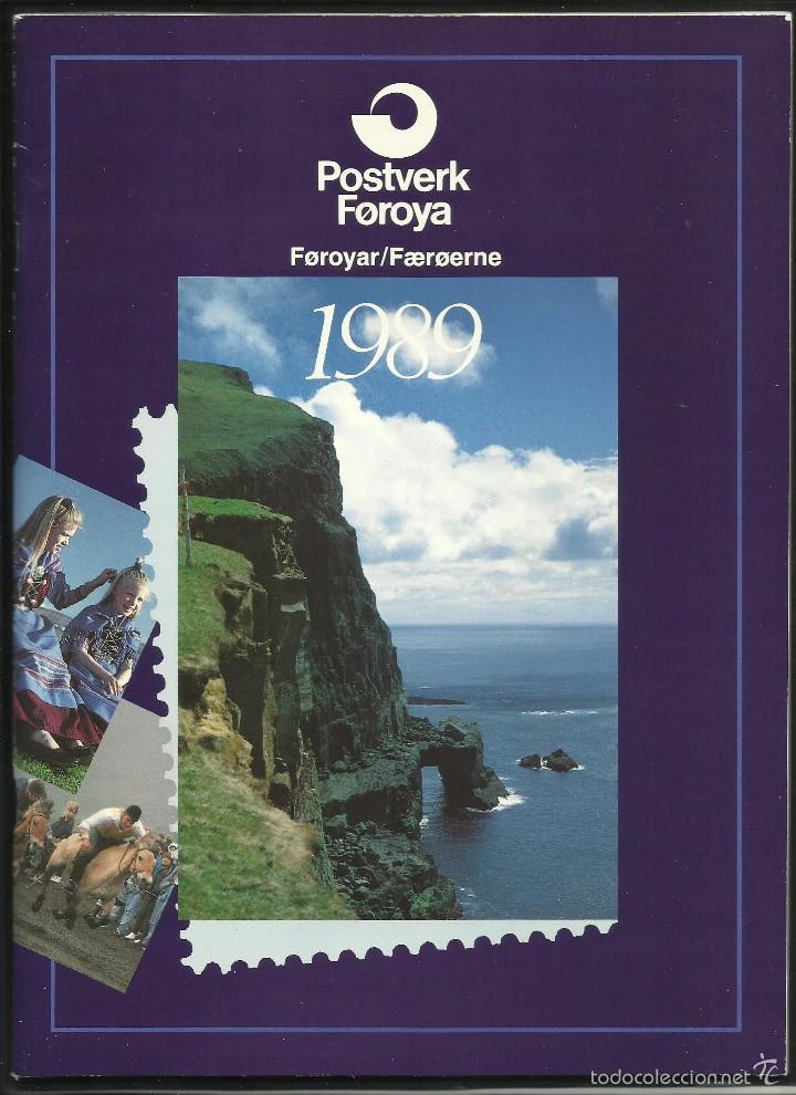 Sellos: ISLAS FEROE LIBRO ANUARIO 1989 INCLUYE SELLOS - CEPT EUROPA- TRAJES TIPICOS- FUTBOL- ARTESANIA - Foto 12 - 55135201