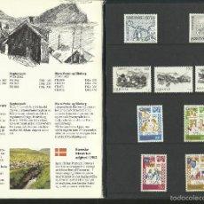 Timbres: ISLAS FEROE ANUARIO 1982 - INCLUYE LOS SELLOS CIUDAD DE BYGDSILJUM- CEPT EUROPA- CUENTOS Y LEYENDAS. Lote 55135323
