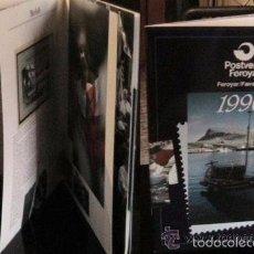 Sellos: ISLAS FEROE LIBRO ANUARIO 1990 INCLUYE SELLOS - CEPT EUROPA- OFICIOS- BARCOS- FAUNA MARINA- PAISAJES. Lote 55135345