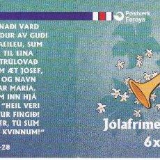 Sellos: 367MH CARNET CON 6 SELLOS DE LAS ISLAS FEROE DEL AÑO 1999 DE NAVIDAD (CHRISTMAS). Lote 61346115