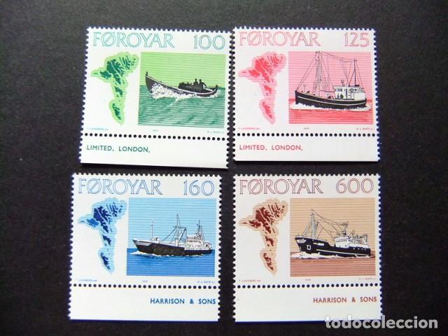 FÉROÉ FOROYAR 1977 BATEAUX YVERT Nº 18 / 21 ** MNH (Sellos - Extranjero - Europa - Islas Feroe)