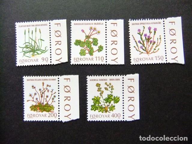 FÉROÉ FOROYAR 1980 FLORA YVERT Nº 42 / 46 ** MNH (Sellos - Extranjero - Europa - Islas Feroe)