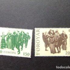 Sellos: FÉROÉ FOROYAR 1980 EUROPA YVERT Nº 57 / 58 ** MNH. Lote 64321739