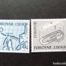 Sellos: FÉROÉ FOROYAR 1982 EUROPA YVERT Nº 64 / 65 ** MNH. Lote 64330043