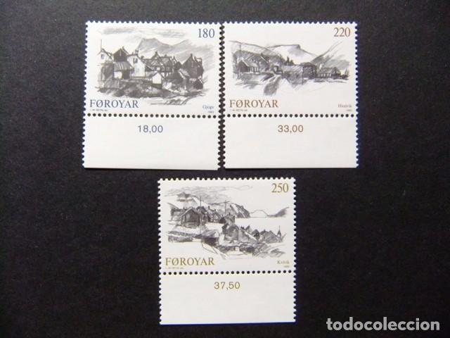 FÉROÉ FOROYAR 1982 VILLAGES YVERT Nº 66 / 68 ** MNH (Sellos - Extranjero - Europa - Islas Feroe)