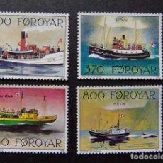 Sellos: FÉROÉ FOROYAR 1992 BARCOS POSTALES YVERT Nº 221 / 224 ** MNH. Lote 64331375
