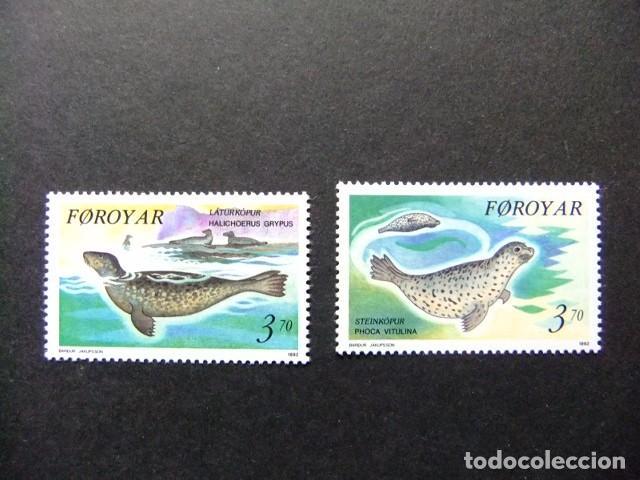 FÉROÉ FOROYAR 1992 FAUNA FOCAS YVERT Nº 231 / 232 ** MNH (Sellos - Extranjero - Europa - Islas Feroe)