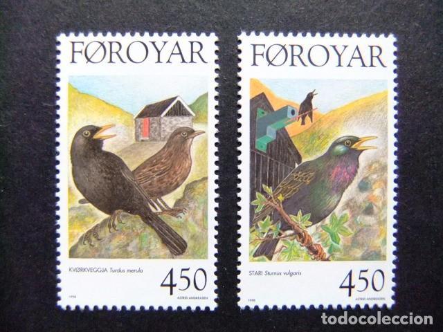FÉROÉ FOROYAR 1998 FAUNA OISEAUX YVERT Nº 324 / 325 ** MNH (Sellos - Extranjero - Europa - Islas Feroe)