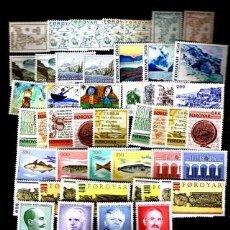 Sellos: LOTE 59 SELLOS NUEVOS DE FEROE SERIES COMPLETAS 1975-1990. Lote 66191702