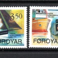 Sellos: FEROE 260/61** - AÑO 1994 - BARCOS - CENTENARIO DE LA ESCUELA NAVAL. Lote 72090871