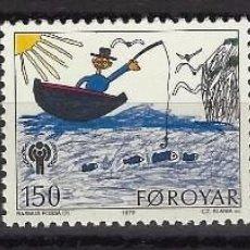 Sellos: ISLAS FEROE 1979 - SET COMPLETO - SELLOS NUEVOS. Lote 95400002