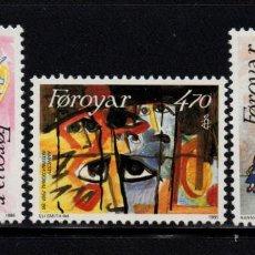 Sellos: FEROE 130/32** - AÑO 1986 - 25º ANIVERSARIO DE AMNISTÍA INTERNACIONAL. Lote 80059853