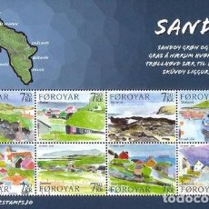 Sellos: [CF9018] ISLAS FEROE 2006, HB LOCALIDADES DE LA ISLA DE SANDOY. ACUARELAS DE ELI SMITH (MNH). Lote 251338035