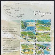 Timbres: FEROE 2005 - ISLA DE VAGAR - MINI HOJA DE 10 SELLOS. Lote 86366968