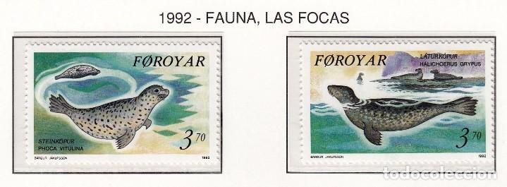 FEROE 1992 - FAUNA MARINA - FOCAS - YVERT Nº 231-232** (Sellos - Extranjero - Europa - Islas Feroe)