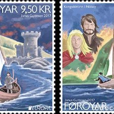 Sellos: FAROES ISLANDS 2017 - EUROPA 2017- (SET MINT). Lote 115385339
