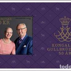 Sellos: FAROES ISLANDS 2017 - ROYAL GOLDEN WEDDING- (M/S MINT). Lote 95322331