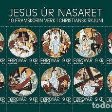 Sellos: FAROES ISLANDS 2016 - JESUS OF NAZARETH SOUVENIR SHEET MNH. Lote 95322387