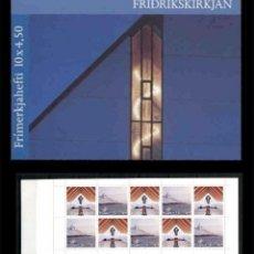 Sellos: FEROE 1998 - IGLESIA DE TOFTIR - YVERT 342-343 - EN CARNET. Lote 101085727