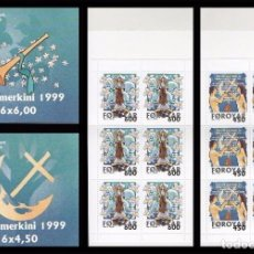 Sellos: FEROE 1999 - NAVIDAD - YVERT 362-363 - EN CARNET. Lote 101086211