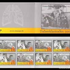 Sellos: FEROE 2008 - LUCHA CONTRA LA TUBERCULOSIS - MEDICINA - CARNET. Lote 101093071