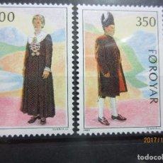 Sellos: FEROE 1989 2 VALORES , NUEVOS. Lote 101568911