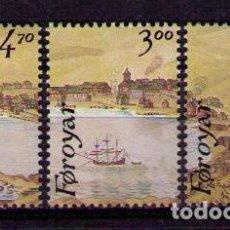 Sellos: FEROE 1986 - HAFNIA 87 - EXPOSICION FILATELICA - YVERT Nº 133-135**. Lote 206807711