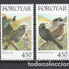 Sellos: FEROE 1998 - PAJAROS - YVERT Nº 324-325**. Lote 119344059