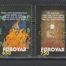 Sellos: FEROE 1998 - LA CANCION DE BRUNILDA - YVERT Nº 326-329**. Lote 119344231