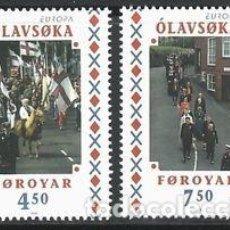 Sellos: FEROE 1998 - EUROPA - FIESTAS NACIONALES - YVERT Nº 334-335**. Lote 119344503