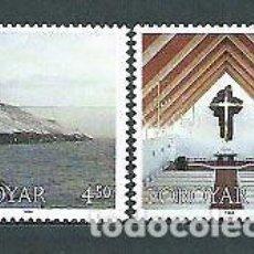 Sellos: FEROE 1998 - NAVIDAD - IGLESIA DE FREDERIK - YVERT Nº 342-343**. Lote 119344943