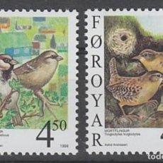Sellos: FEROE 1999 - PAJAROS - YVERT Nº 348-349**. Lote 119367215