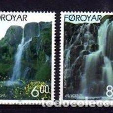 Sellos: FEROE 1999 - EUROPA - PARQUES NATURALES - YVERT Nº 350-351**. Lote 119367451