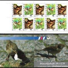 Sellos: FEROE 1999 - PAJAROS - OISEAUX - BIRDS - YVERT CARNET Nº C348. Lote 119368255