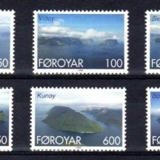 Sellos: FEROE 1999 - ISLAS DEL NORTE DE FEROE - YVERT Nº 352-357**. Lote 119368515
