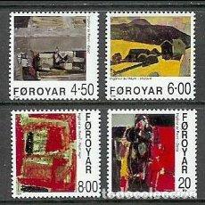 Sellos: FEROE 1999 - PINTURAS DE INGALVUR AV REYNI - YVERT Nº 358-361**. Lote 119368767