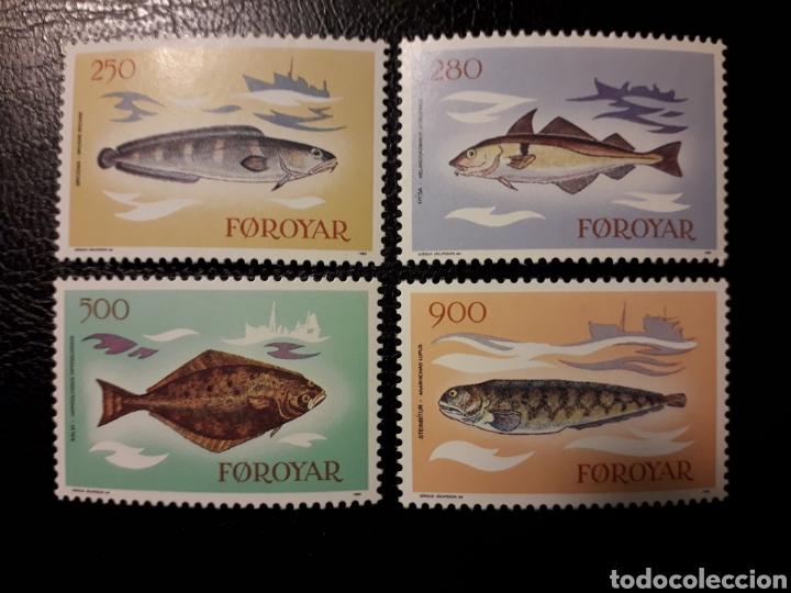 FEROE (DINAMARCA) YVERT 80/3. SERIE COMPLETA NUEVA SIN CHARNELA. FAUNA. PECES. (Sellos - Extranjero - Europa - Islas Feroe)
