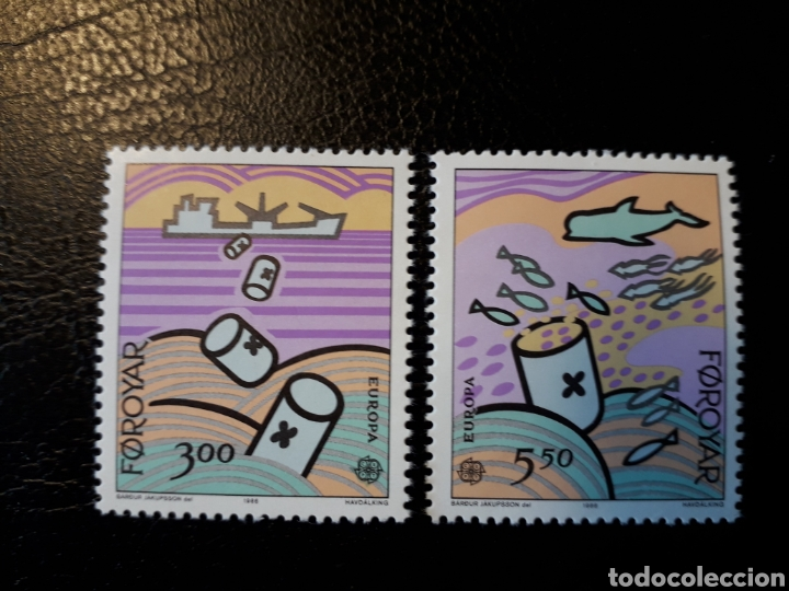 FEROE (DINAMARCA) YVERT 128/9. SERIE COMPLETA NUEVA SIN CHARNELA. EUROPA CEPT. (Sellos - Extranjero - Europa - Islas Feroe)