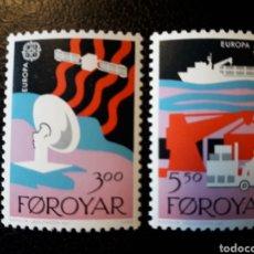 Sellos: FEROE (DINAMARCA) YVERT 160/1. SERIE COMPLETA NUEVA SIN CHARNELA. EUROPA CEPT. COMUNICACIONES. Lote 124347011