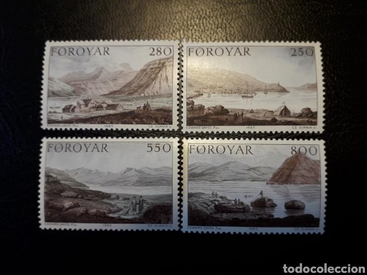 FEROE (DINAMARCA) YVERT 106/9. SERIE COMPLETA NUEVA SIN CHARNELA. PINTURAS. (Sellos - Extranjero - Europa - Islas Feroe)
