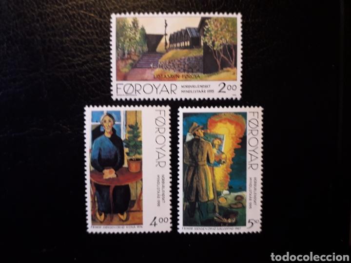 FEROE (DINAMARCA) YVERT 276/8. SERIE COMPLETA NUEVA SIN CHARNELA. PINTURAS. (Sellos - Extranjero - Europa - Islas Feroe)