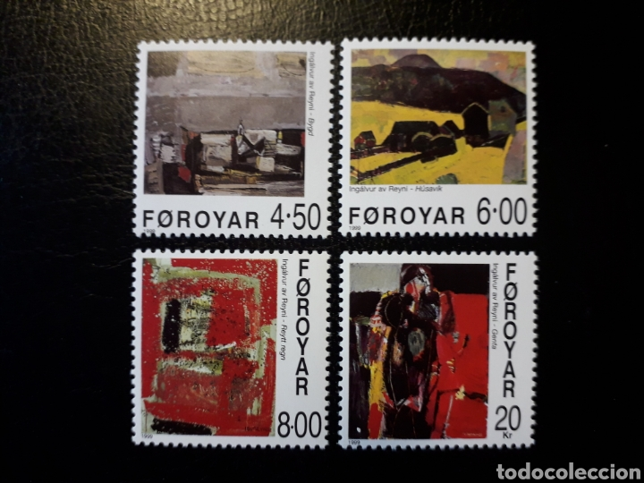 FEROE (DINAMARCA) YVERT 358/61. SERIE COMPLETA NUEVA SIN CHARNELA. PINTURAS. (Sellos - Extranjero - Europa - Islas Feroe)