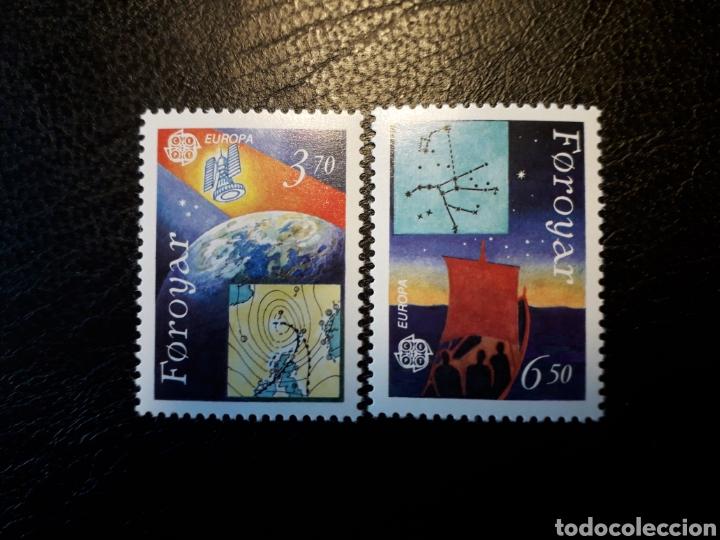 FEROE (DINAMARCA) YVERT 211/2. SERIE COMPLETA NUEVA SIN CHARNELA. EUROPA CEPT. ESPACIO (Sellos - Extranjero - Europa - Islas Feroe)