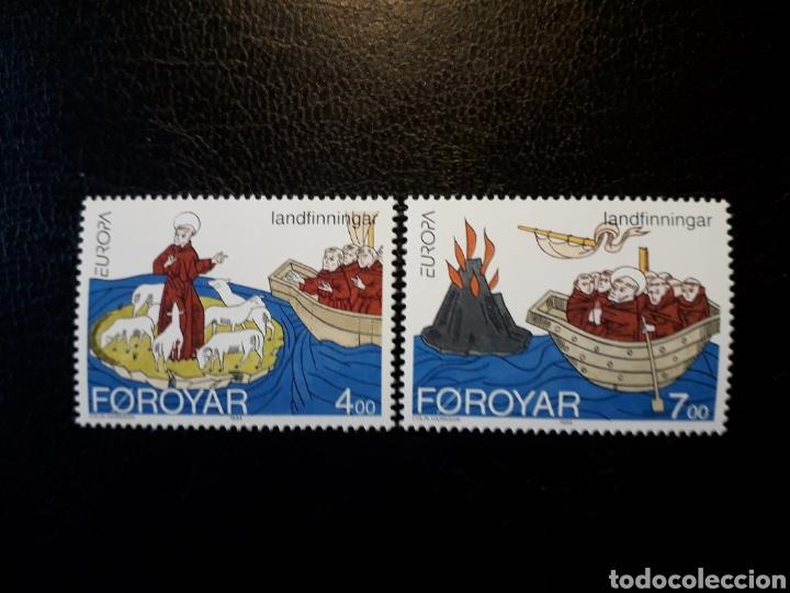 FEROE (DINAMARCA) YVERT 254/5. SERIE COMPLETA NUEVA SIN CHARNELA. EUROPA CEPT. (Sellos - Extranjero - Europa - Islas Feroe)