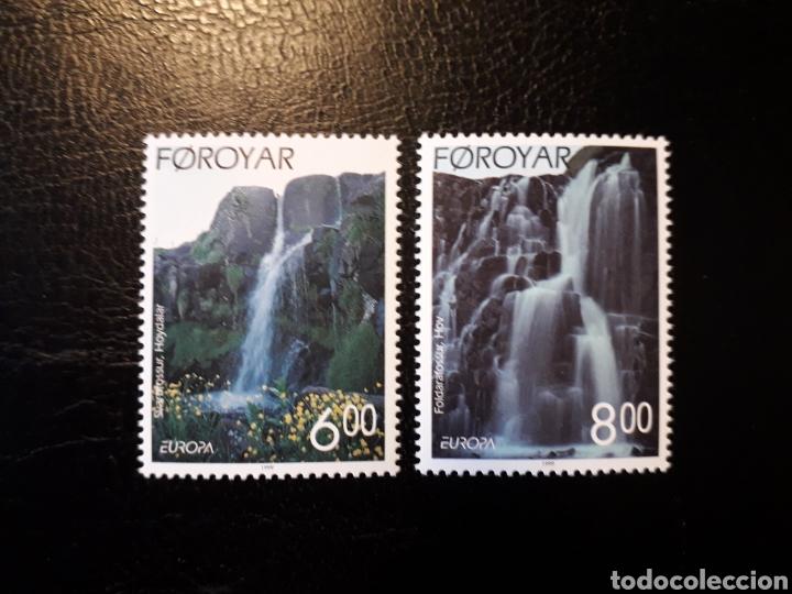 FEROE (DINAMARCA) YVERT 350/1. SERIE COMPLETA NUEVA SIN CHARNELA. EUROPA CEPT. CASCADAS. (Sellos - Extranjero - Europa - Islas Feroe)