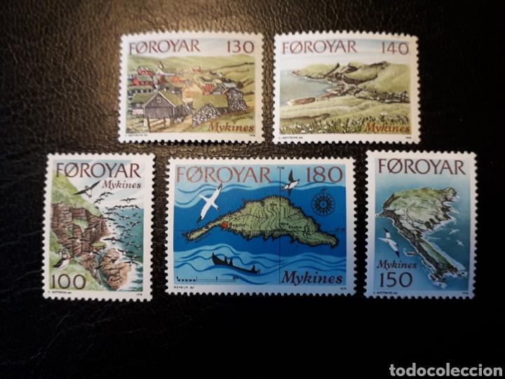 FEROE (DINAMARCA) YVERT 25/9. SERIE COMPLETA NUEVA SIN CHARNELA. ISLAS MYKINES (Sellos - Extranjero - Europa - Islas Feroe)