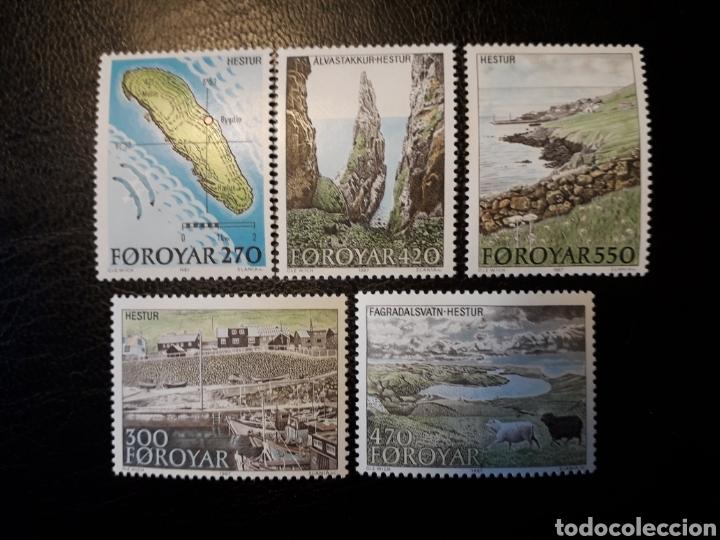 FEROE (DINAMARCA) YVERT 148/52. SERIE COMPLETA NUEVA SIN CHARNELA. TURISMO. ISLAS (Sellos - Extranjero - Europa - Islas Feroe)
